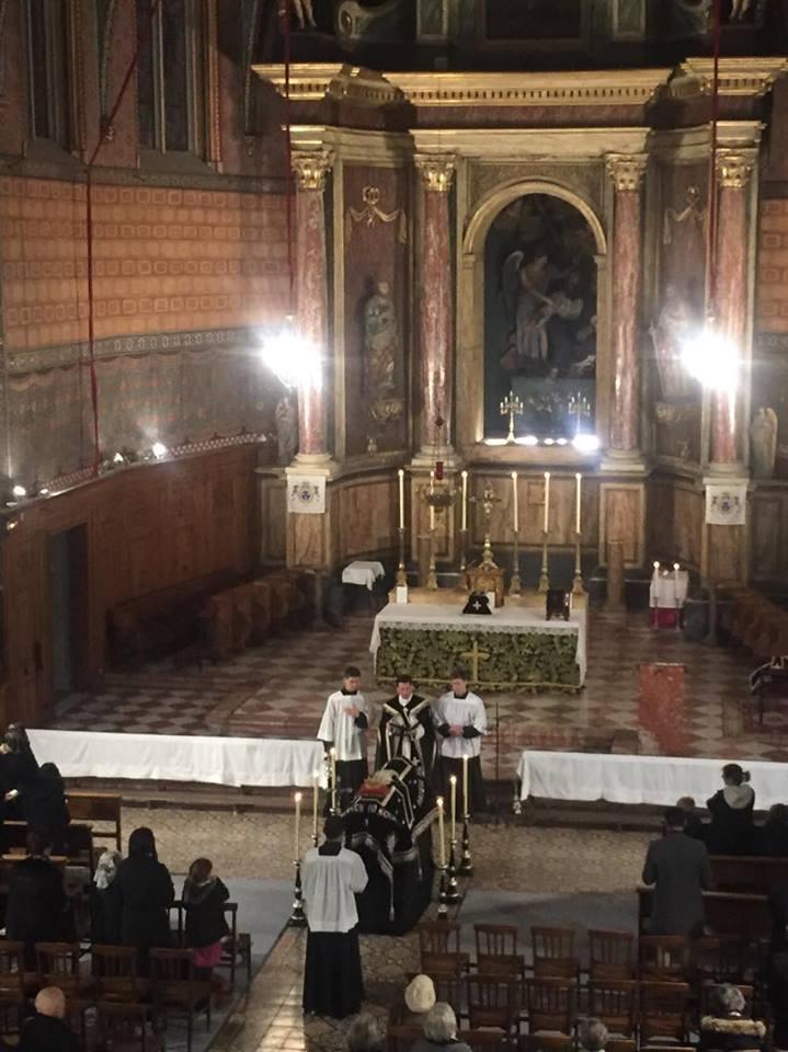 messe commémorant la mort de Louis XVI, 21 janvier 2018, Perpignan.