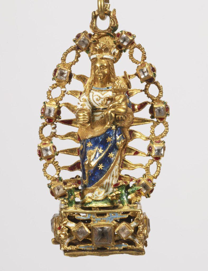 agnus en forme de Vierge, XVIe s.